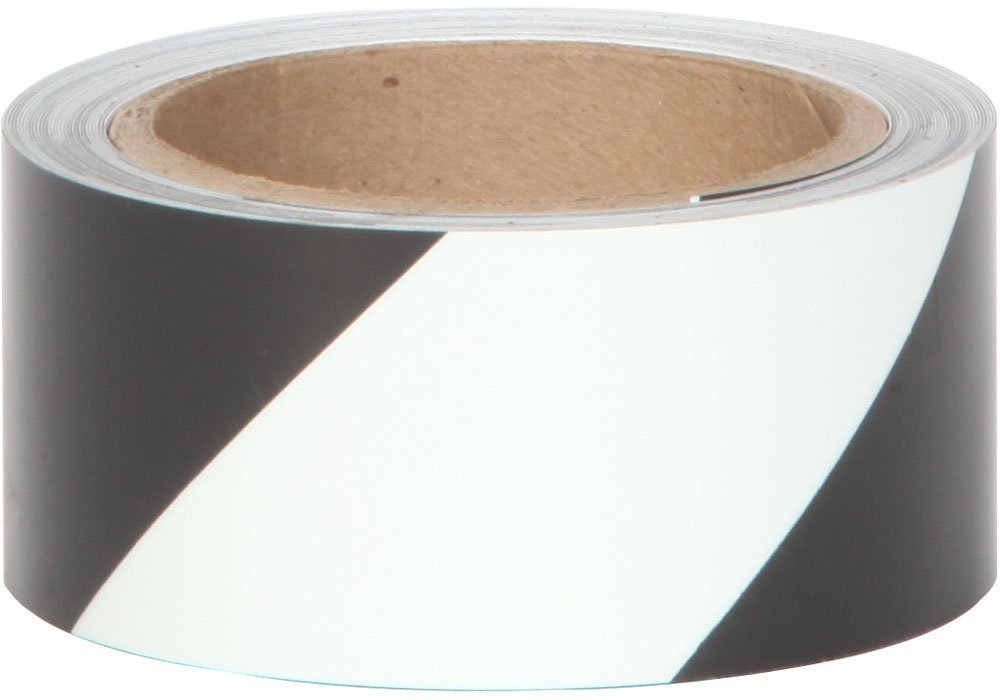 "2"" x 30' Roll BLACK & GLOW IN THE DARK Stripe Emergency Egress Tape - Case of 3 - 10 Day Processing"