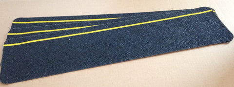 "6"" X 24"" Abrasive Yellow Reflective Stripe Anti Slip Safety Tape Stair Step Treads 84612-3 Package of 3"