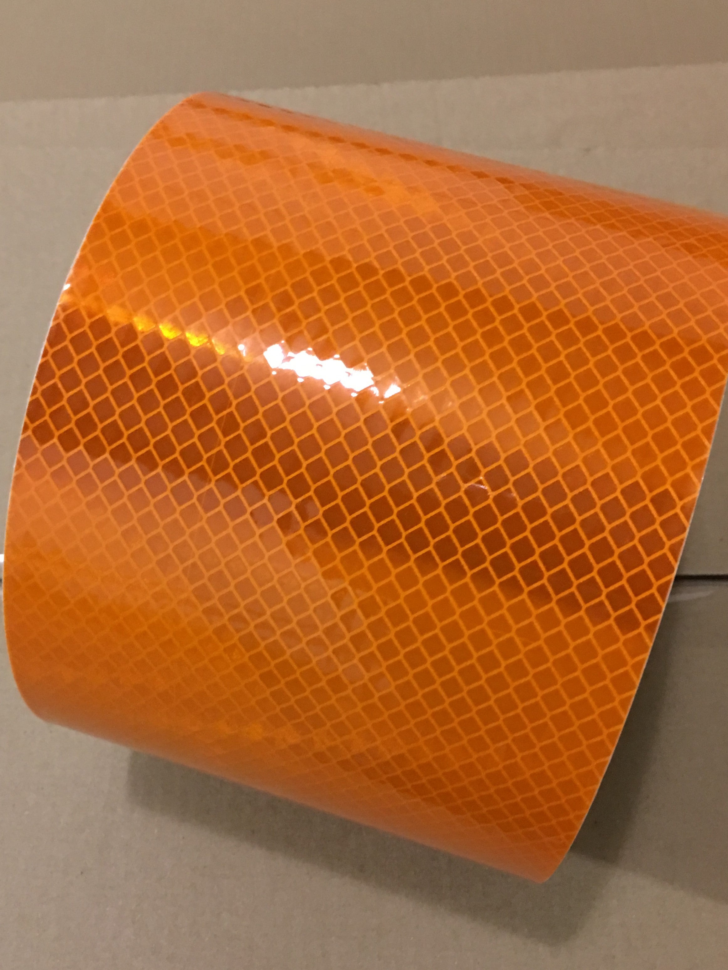 "6"" x 10' Roll 3M Diamond Grade Highly Reflective Safety Tape Flexible Prismatic Markings 973 Series Orange"