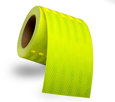 "1"" x 150' Roll 3M Reflective Tape - Fluorescent Yellow Green - SPECIAL ORDER 2 WEEKS PROCESSING"