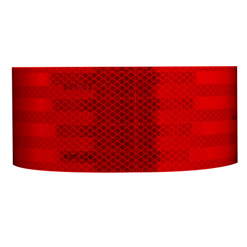 "2"" x 150' Roll 3M Reflective Conspicuity Tape 983-72-2 ES Solid Red - DOT-C2"
