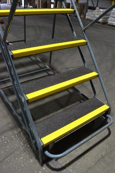 "9"" x 48"" Medium Grit Non-Slip Fiberglass Step Cover - Up to 3 Weeks Processing"