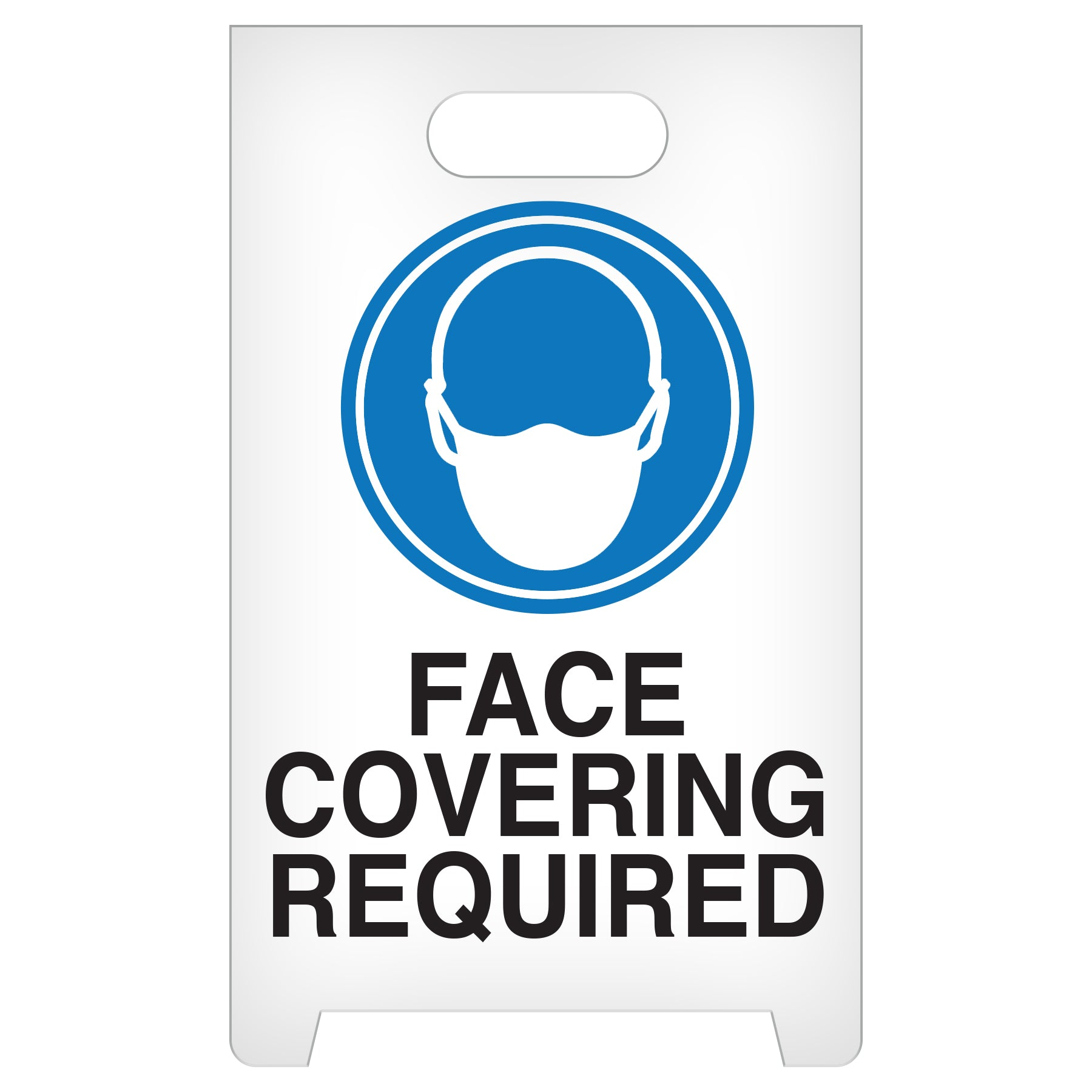 Incom A-Frame Portable Face Covering Required Floor Sign ASF1014