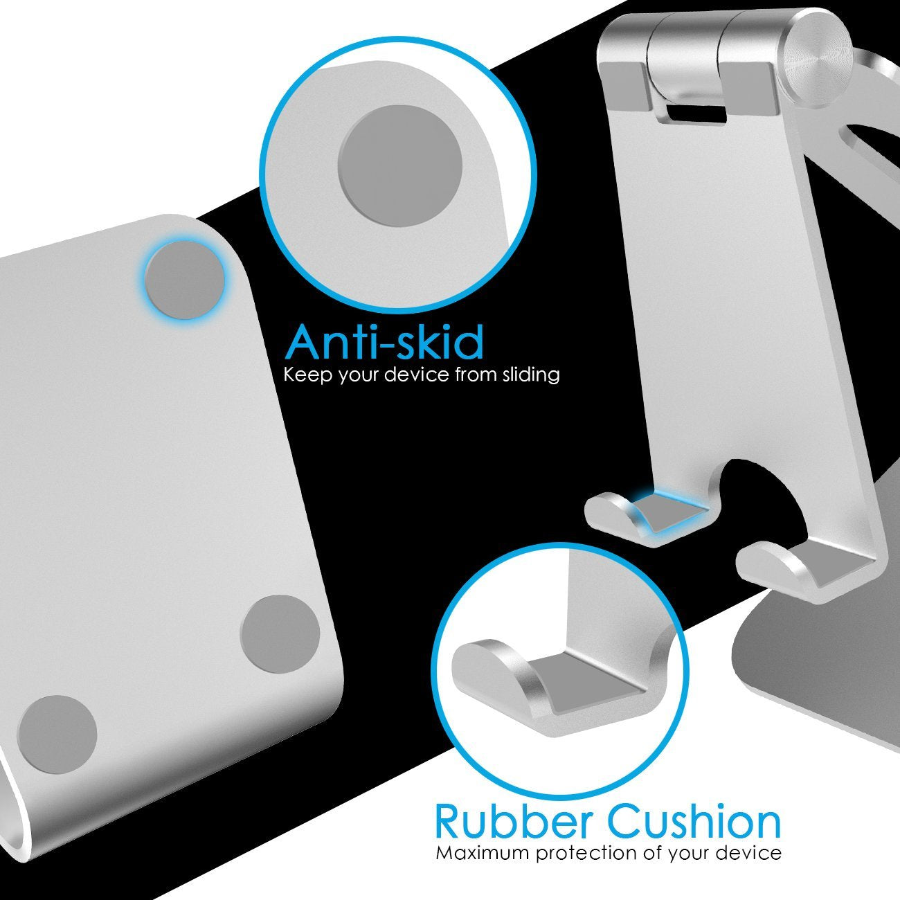 Adjustable Anti Skid iPad Stand Safe Way Traction Rubber Cushion Grip Non Slip Safety Cell Phone Tablets