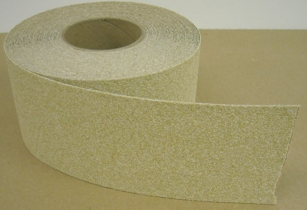 "2"" X 60' Foot Roll Master Stop Abrasive Grit Anti Slip Non Skid Safety Tape Beige 88207"