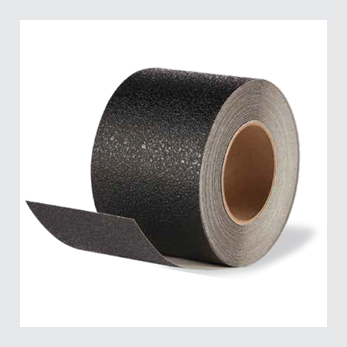 "4"" X 60' Roll BLACK Vinyl Coarse Texture Tape - Case of 3"