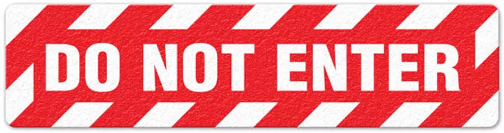 "Incom Anti-Slip 6"" x 24"" Do Not Enter Floor Sign - See drop down for quantities"