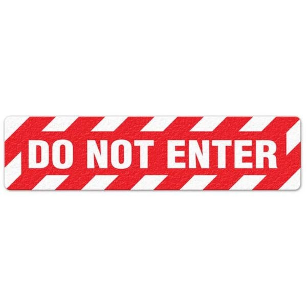 "Incom Anti-Slip 6"" x 24"" Caution - Do Not Enter Floor Sign"