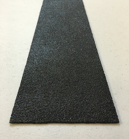 "Sure Foot .065"" Thick x 4"" Wide x 36"" Long Black Abrasive Fiberglass Flat Safety Plate Medium Grit 9N06004X3619M"