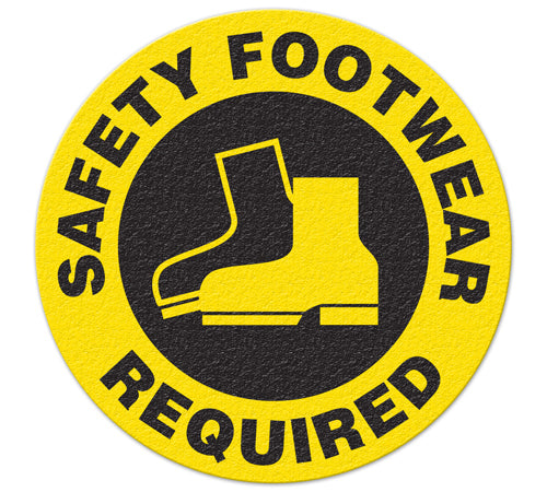 Incom Anti-Slip Safety Footwear Required Floor Sign FS1026V
