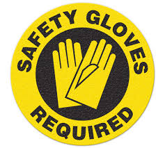 Incom Anti-Slip Safety Gloves Required Floor Sign FS1028V
