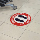 Incom Maintain Distance Anti Slip Floor Safety Sign