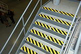 "6"" X 24"" Abrasive Black Yellow Striped Hazard Warning Anti Slip Treads Safety Tape 84617 Package of 3"