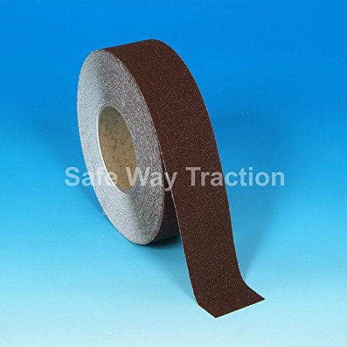 "4"" X 60' Foot Roll Heskins Safety Grip Anti Slip Tape Brown NSTS4G"