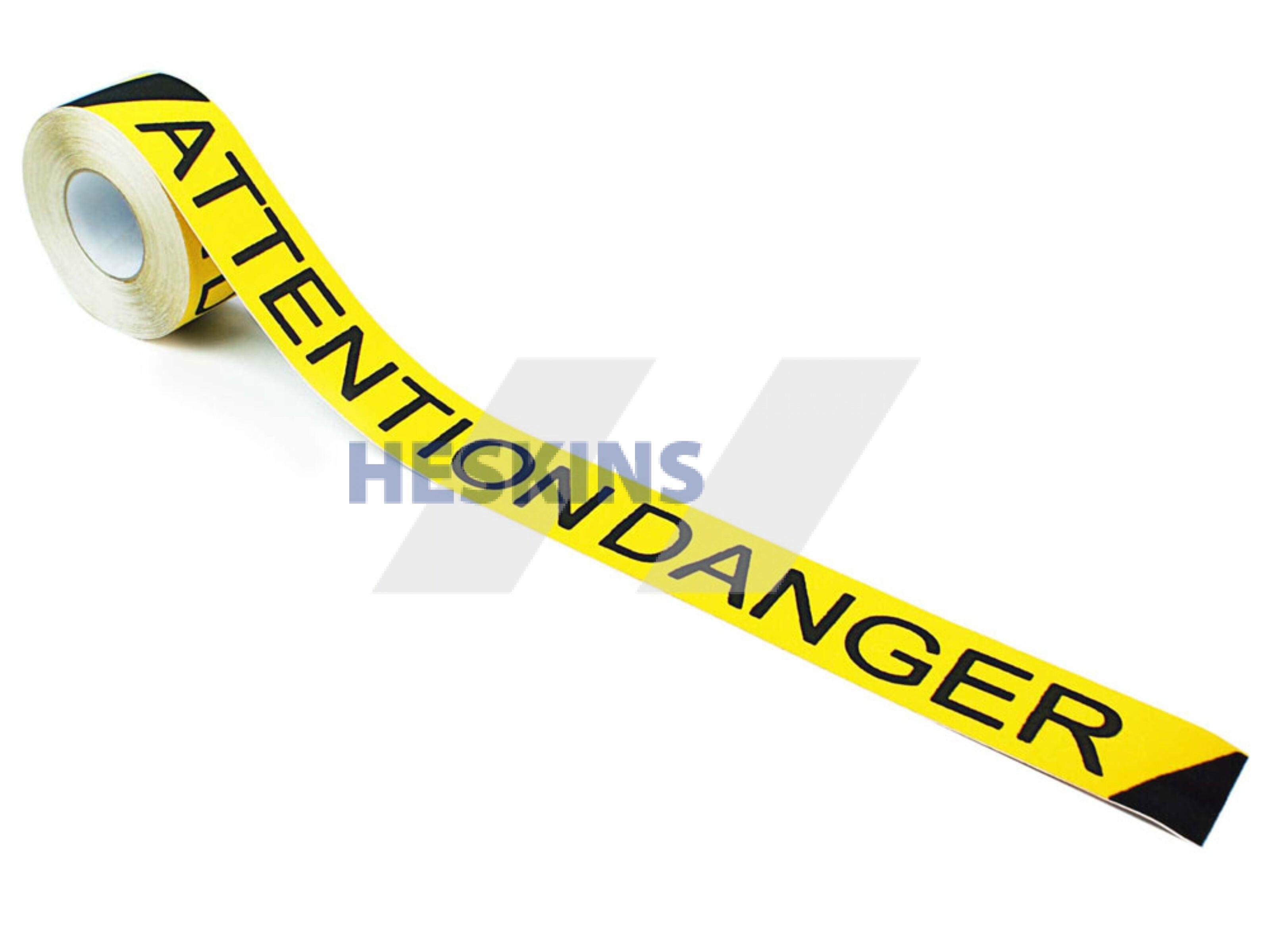 "3"" X 60' Roll Heskins Safety Grip Printed Anti Slip Tape Black Yellow Attention Danger"