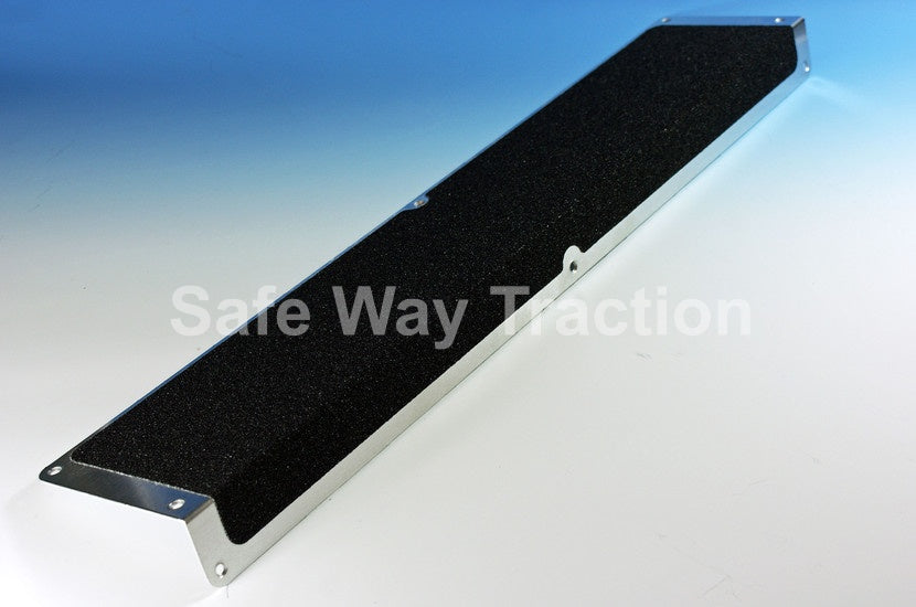 Aluminum Anti Slip Safety Step Plate Abrasive Black- See Drop Down For Sizes