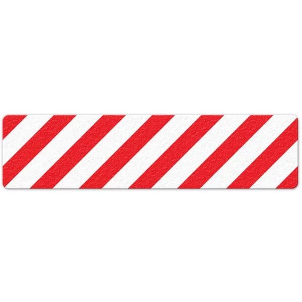"Incom Anti-Slip 6"" x 24"" Red White Floor Sign"