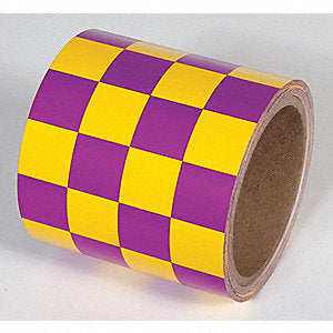 Incom Checkerboard Race Pattern Laminated Tape Yellow / Magenta