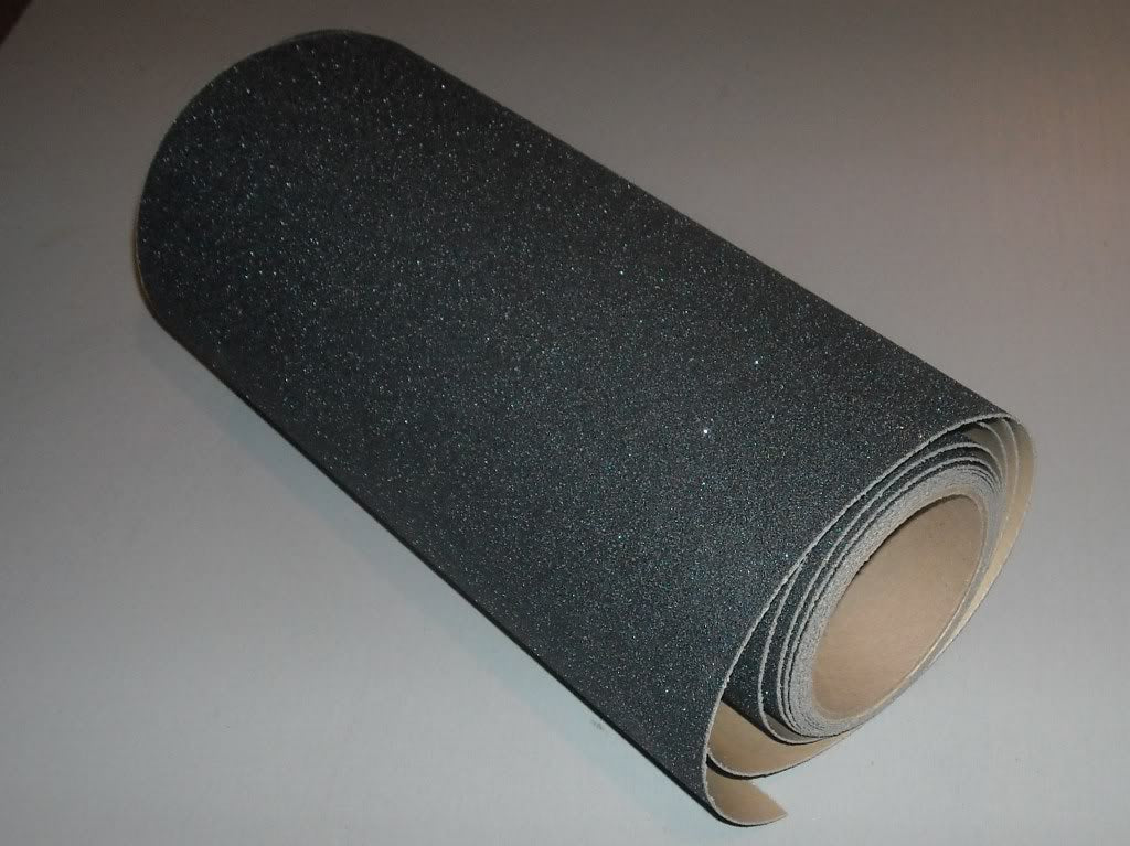 "24"" X 15' Roll Abrasive 80 Grit Anti Slip Grip Tape Black"