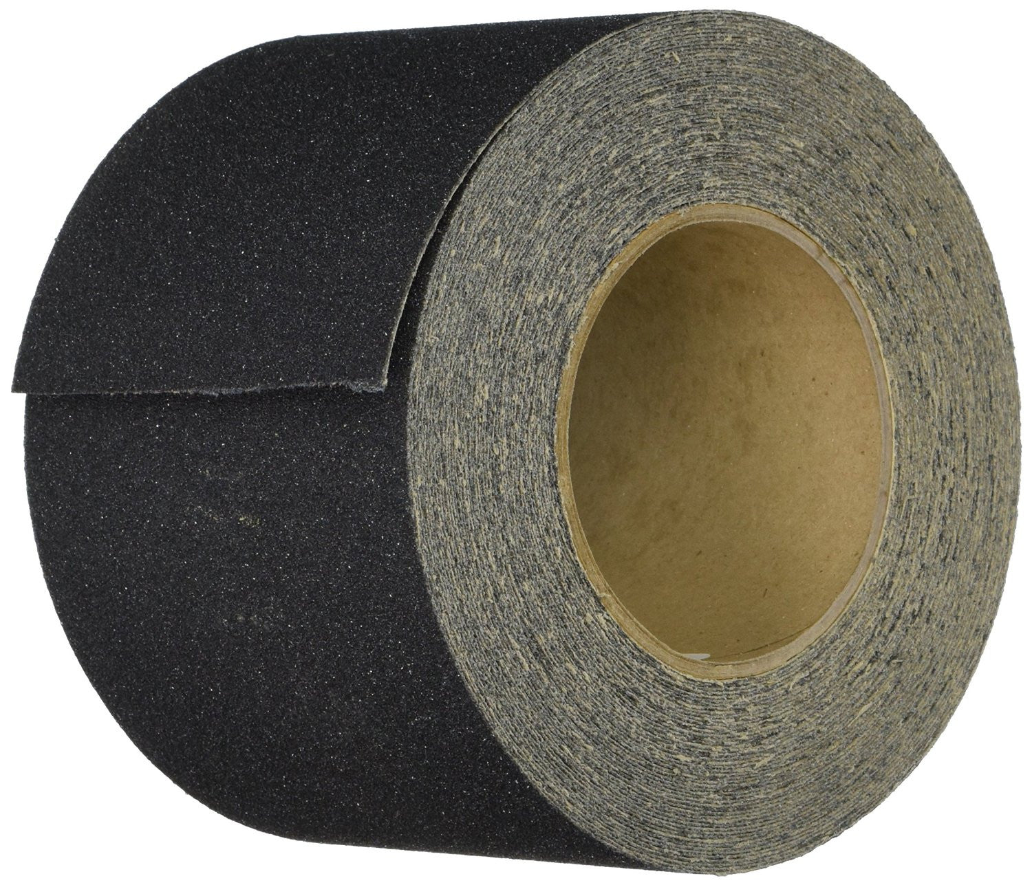 "4"" Wide X 60' Foot Roll of Abrasive Anti Slip Non Skid Tape Black Safety Track 3100-4"