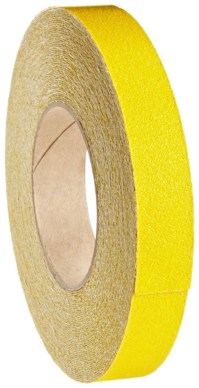 "1"" Wide X 60' Foot Roll of Abrasive Anti Slip Non Skid Grit Grip Safety Tape Yellow"
