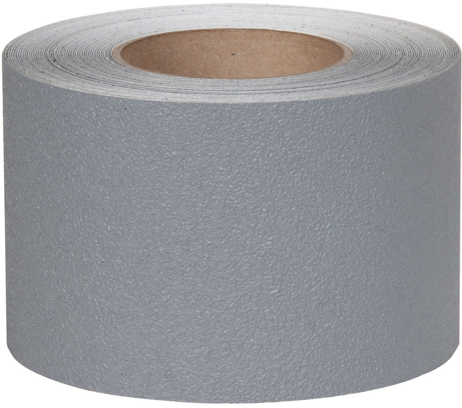 "4"" X 60' Jessup Safety Track 3500 Series Resilient Anti Slip Non Skid Safety Tape Gray 3520-4 Case of 3 Rolls"