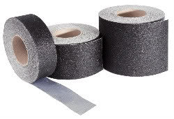 "4"" Wide X 60' Safety Track Conformable Abrasive Grit Anti Slip Tape Black 3700-4 Case of 3 Rolls"