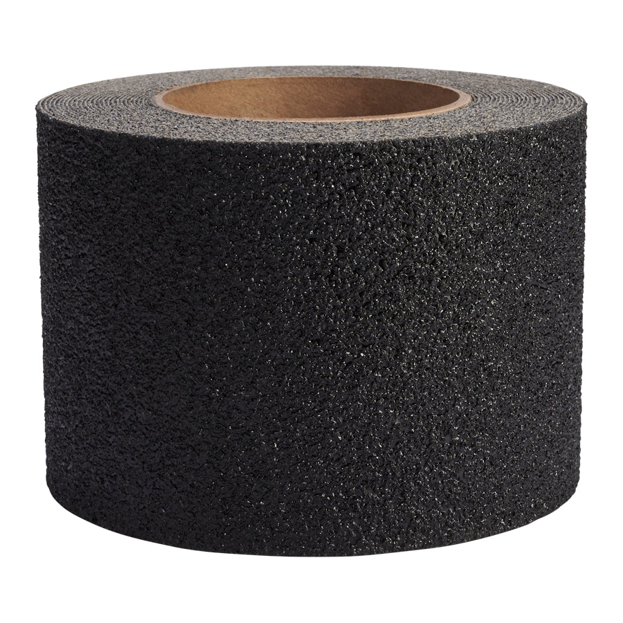 4' x 30' Jessup 3810-4X30 Safety Track Military Grade Marine Heavy Duty Peel and Stick Non-Skid Safety Tape Black Case of 3 Rolls