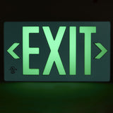 Glo Brite 7040-100-B Photoluminescent Exit Sign - Minimum Order is any 2 Exit Signs