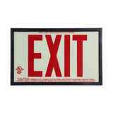 Glo Brite 7210 Photoluminescent Single Sided Exit Sign - P50 Red
