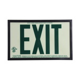 Jessup Glo Brite 7220 Photoluminescent Single Sided Indoor Egress Exit Sign P50 Green - 2 to 10 Day Processing