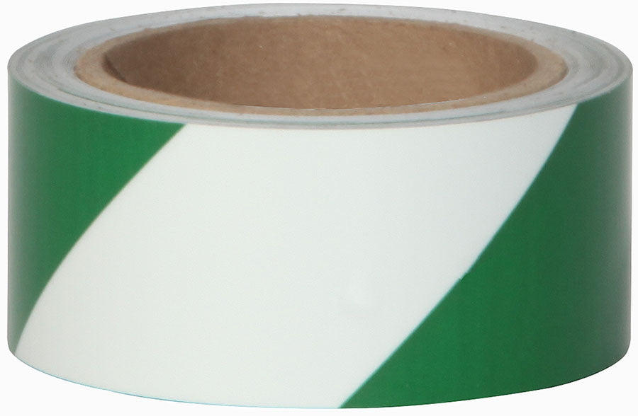 "Jessup 7520-2-STRIPE-G Photoluminescent Glo Brite Film 2"" x 30 ft. Case of 3 Rolls Green Stripe Glow in the Dark Emergency Egress Hazard Safety Grade Tape"