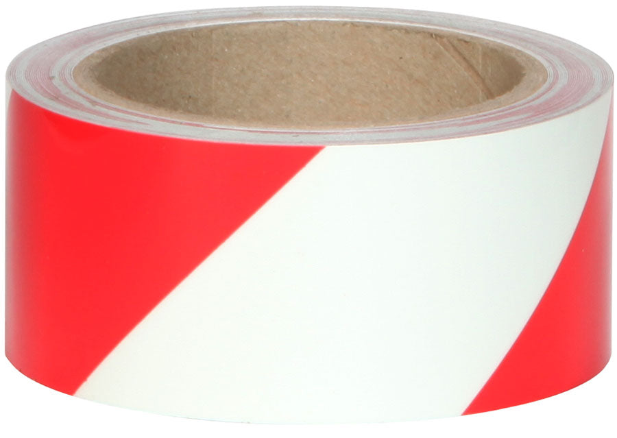 "Jessup 7520-2-STRIPE-R Photoluminescent Glo Brite Film 2"" x 30 ft. Case of 3 Rolls Red Stripe Glow in the Dark Emergency Egress Hazard Safety Grade Tape"