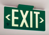 Glo Brite 7042-100-B Photoluminescent Double Sided Directional Exit Sign - PF100 Green