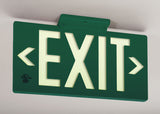 Glo Brite 7040-100-B Photoluminescent Single Sided Directional Exit Sign - PF100 Green