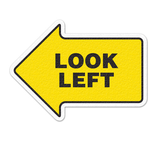 Incom Anti-Slip Look Left Floor Sign FS1019V