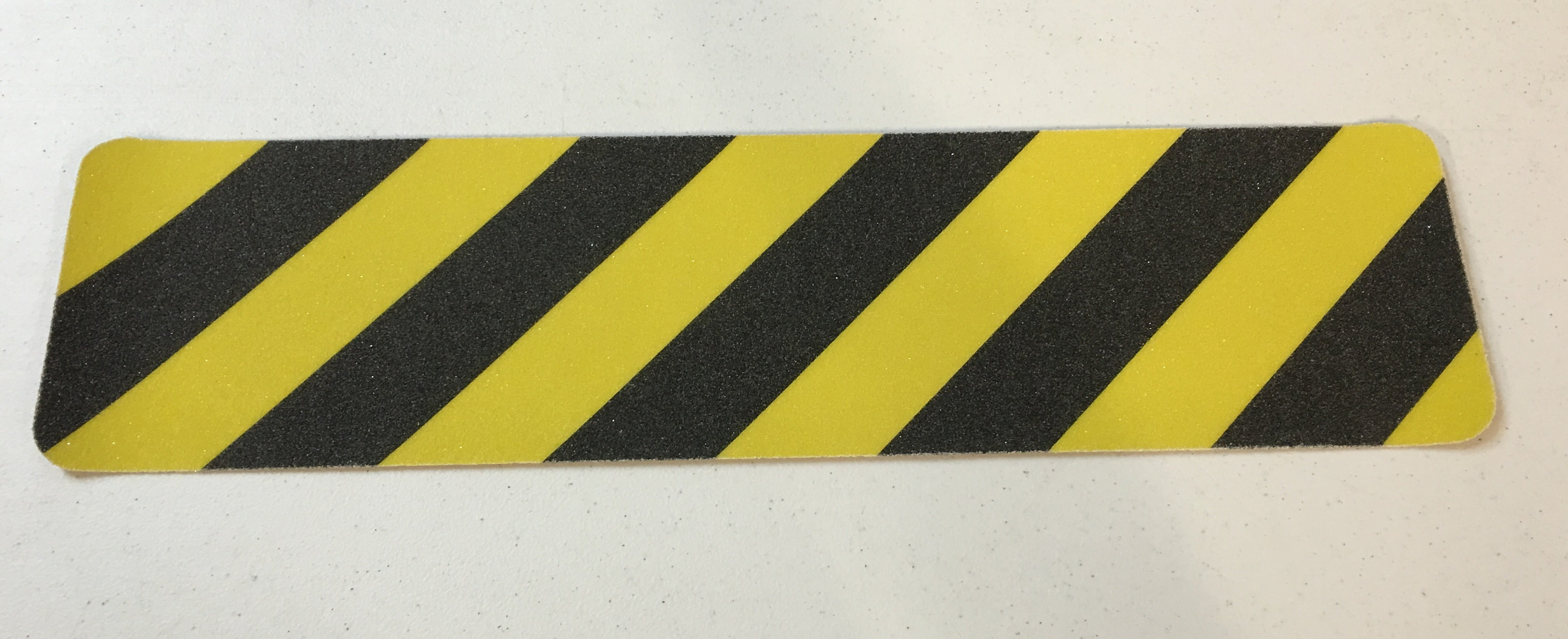 "3"" X 24"" Abrasive Black Yellow Striped Hazard Warning Anti Slip Treads Safety Tape 84317 Package of 100"