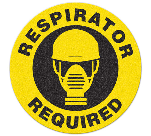 Incom Anti-Slip Safety Respirator Required Floor Sign FS1024V