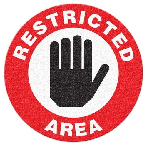 Restricted Area Floor Sign - FS1025V