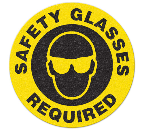 Incom Anti-Slip Safety Safety Glasses Required Floor Sign FS1027V