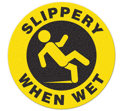 Incom Anti-Slip Safety Slippery When Wet Floor Sign FS1029V