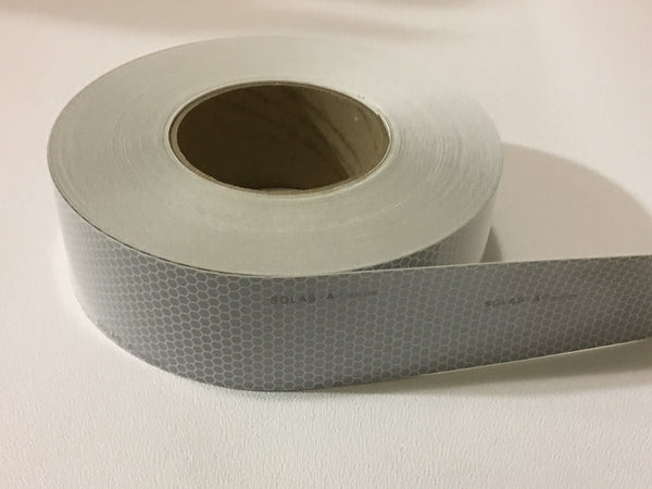 "2"" x 50 Meter Roll 3M Scotchlite Reflective Marine Safety Tape SOLAS Grade Pressure Sensitive Adhesive Film 3150-A"