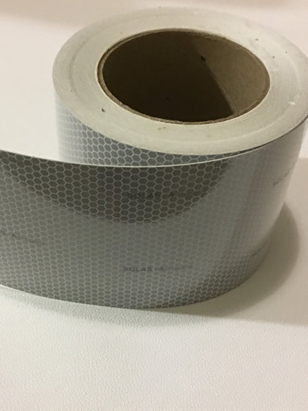 "4"" x 50 Meter Roll 3M Scotchlite Reflective Marine Safety Tape SOLAS Grade Pressure Sensitive Adhesive Film 3150-A"