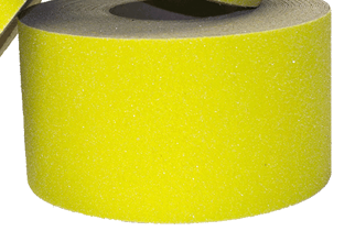 "Special Offer - 50% Savings - 1 Roll Available - 4"" X 60' Roll YELLOW Abrasive Non-Slip Tape - Enter Code 50OFFTODAY at checkout"