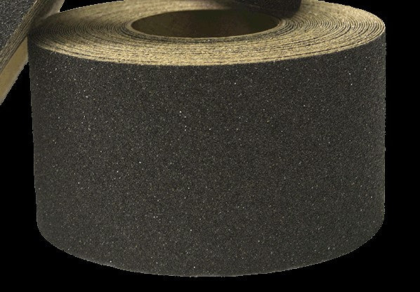 "Special Offer - 4"" X 60' BLACK Abrasive 30/60 Tape - Enter Code 20OFFTODAY at checkout for 20% Savings - Limited Stock"