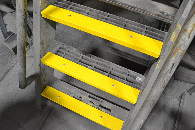 "3"" x 36"" Stair Nosing SAFETY YELLOW Heavy Duty Grit - MINIMUM ORDER IS 3 TREADS"