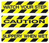 Black / Yellow Non-Skid Stair / Step Message Treads - Multiple Sizes/Options