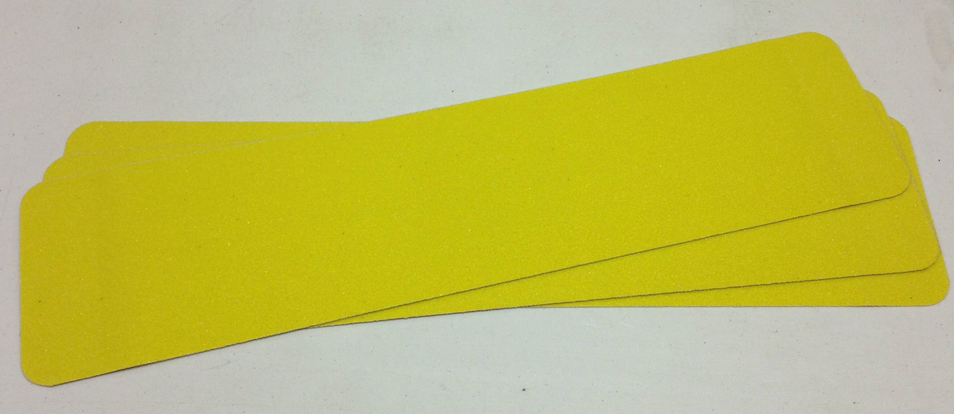 "6"" X 24"" Abrasive Yellow Hazard Warning Anti Slip Non Skid Treads Safety Tape 84608 Package of 50"