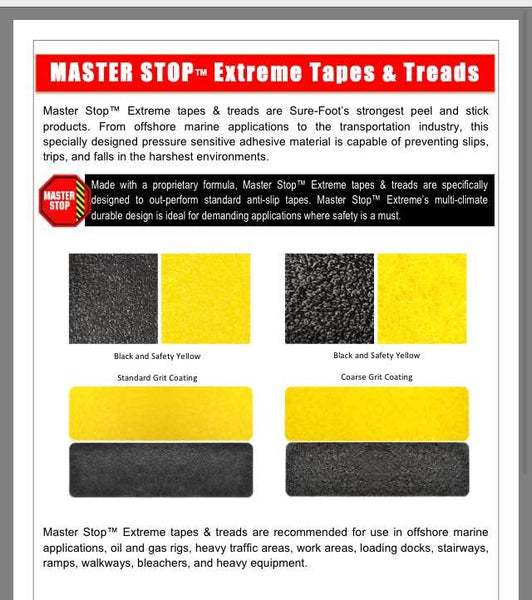 "3"" X 24"" Tread Extreme Adhesive Heavy Duty Coarse Grit Abrasive Anti Slip Tape Treads Black 84519EC Case of 12"