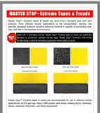 "6"" X 36"" Tread Extreme Adhesive Medium Grit Abrasive Anti Slip Tape Treads Black 85819EM Case of 12"